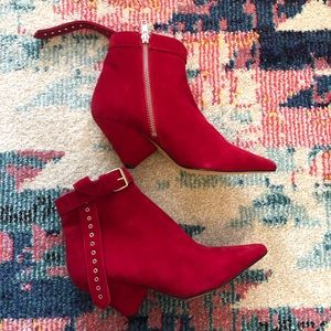 Iro suede ankle booties